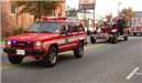 Fire Department Vehicles in Parade