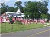 American flags at Clifton City Hall 1