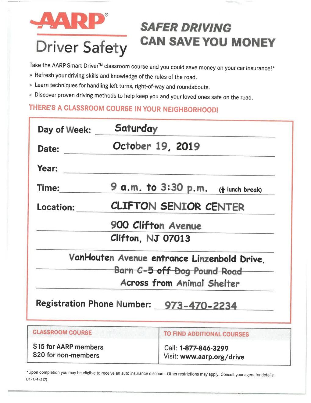 AARP SAFE DRIVING