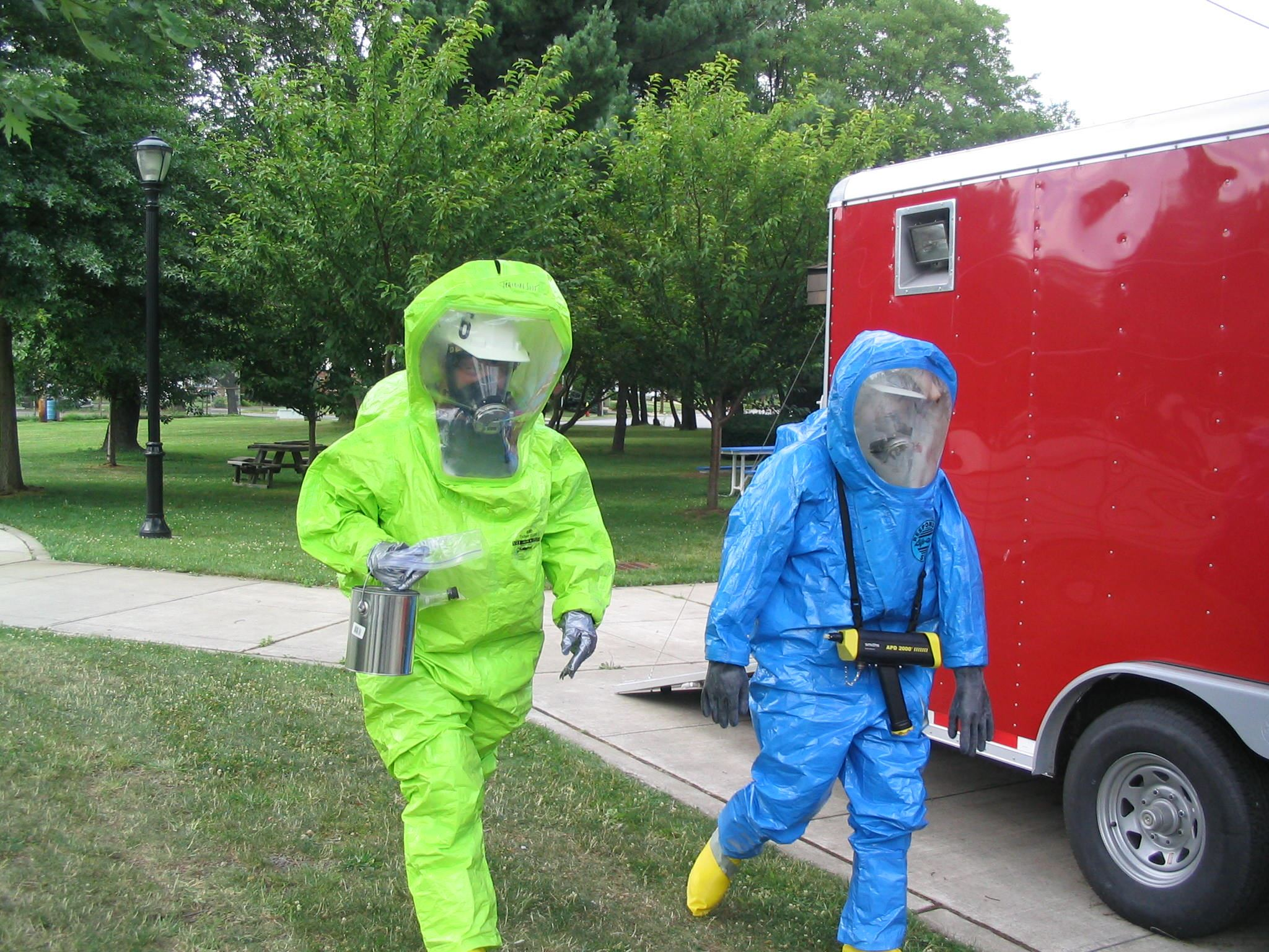 Hazmat Green and Blue Suits