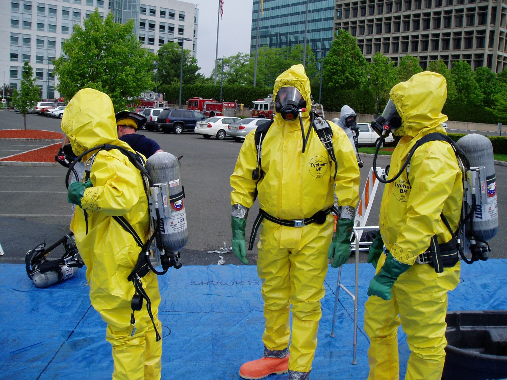 Hazmat Yellow Suits