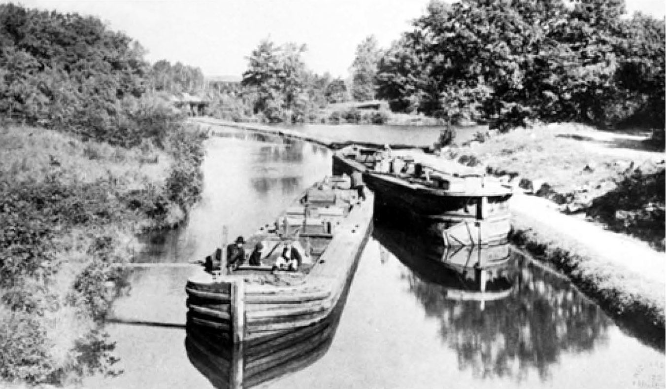 Barges on the Morris Canal