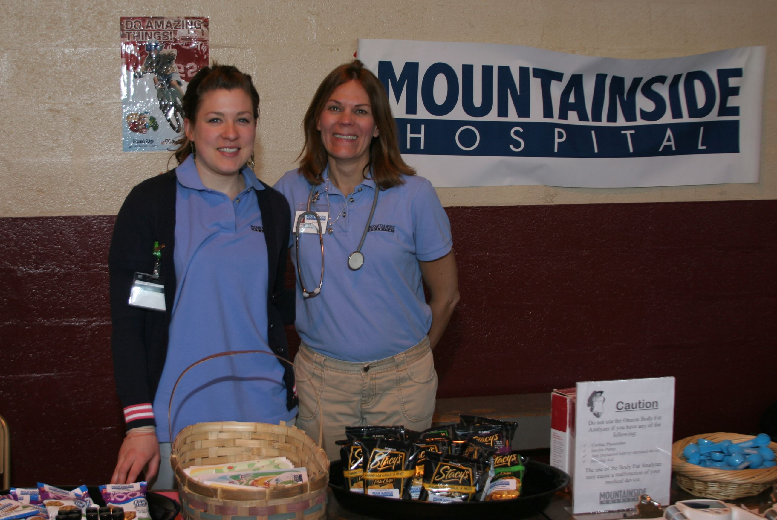 Mountainside Hospital table at Safety Fair