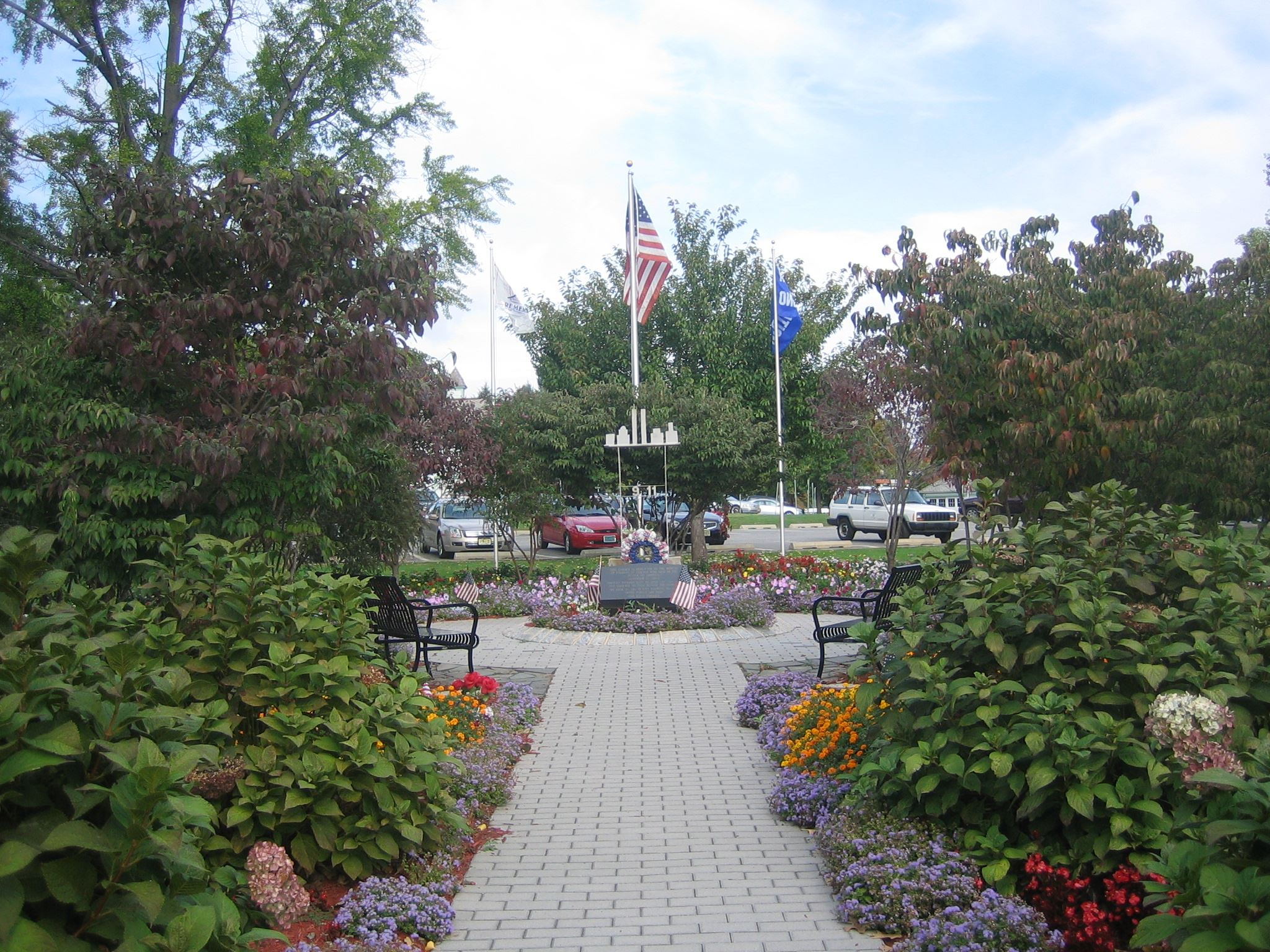 View of a garden at Clifton City Hall